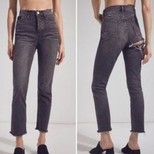 BDG | Straight + Narrow High-Rise Jeans Black 26